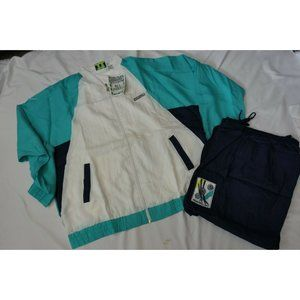 90s NEW vtg MEMBERS ONLY All Points Men XL TRACK SUIT Jacket Pant COLOR BLOCK